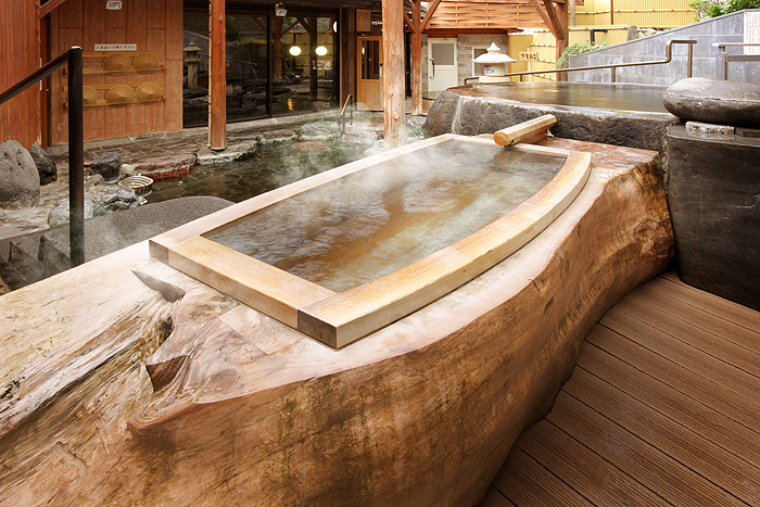 Aomori Cypress Log BathBath Made Of An Entire The Tree Was 450 Years Old